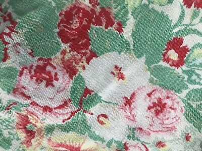 """Stunning Vintage french Shabby Chic Cotton Floral Fabric 72""""/44"""""""