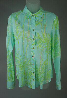 621340d47dd Women's Lilly Pulitzer Blue Multi Color Tree Print Button Front Shirt Top  Size 6