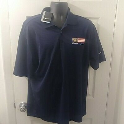 a0b013fd NEW Nike Men's Golf Shirt Size Large Navy Blue Dri-Fit Polo muller martin