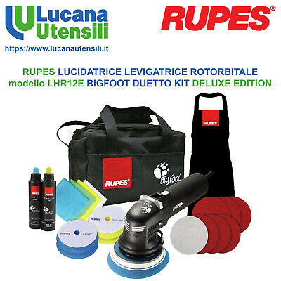 RUPES LUCIDATRICE ROTORBITALE modello LHR12E BIGFOOT DUETTO KIT DELUXE EDITION