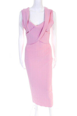 0a8b50f6 Solace London Womens Cecile V Neck Sleeveless Sheath Dress Pink Size 8  11087026