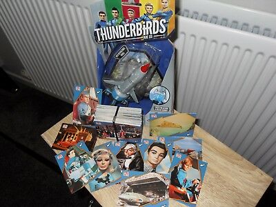 Complete Set of 100 Thunderbirds  Collectable Cards Plus brand new Thunderbird 1