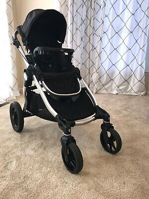 Baby Jogger City Select Stroller Onyx Black With Titanium Frame W Accessories