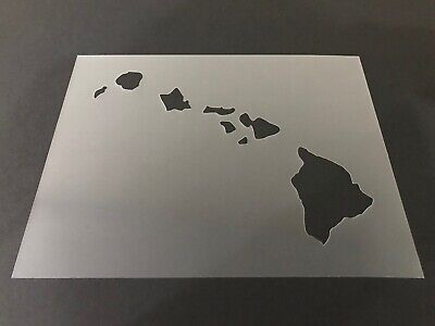 Outline States Michigan #1 Stencil 10mm or 7mm Thick College Crafts