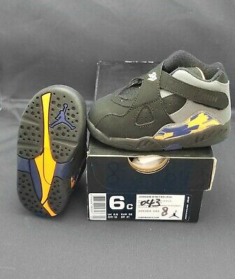dbc9d723099a Jordan 8 Retro Td Toddler 6C Michael Jordan 305360 043 Child Shoes Phnx  Suns New