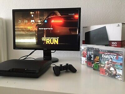 PlayStation 3 PS3 mit Controller 160 GB +4 Spiele