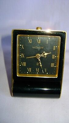 Vintage Lecoultre 2 Day Travelling Desk / Alarm Clock In Excellent Condition