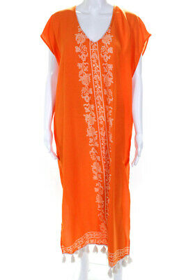 2a85348e60 Show Me Your Mumu Shelly V Neck Tassel Maxi Dress Orange Size Small 11090691