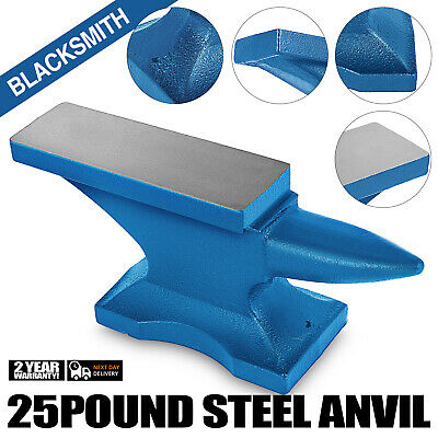 Iron Anvil Blacksmith Single Beck Cast Iron 11KG 25 LBS Blue 4 Anchor Point