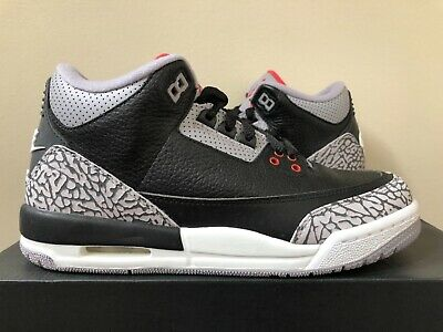 quality design 753c1 7b4d1 Air Jordan Retro 3 OG BG Black Cement 854261-001 Size 5-7Y 100