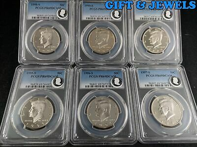 PCGS PR69DCAM GRADED COINS-L@@@K FRESHLY GRADED AND A GREAT MIX #2 LOT OF 12