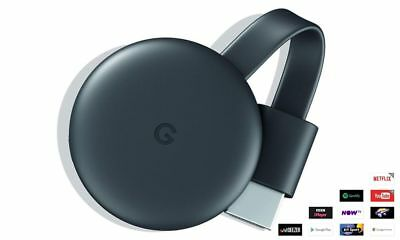 Google Chromecast GA00439-GB Video Smart Box Media Streamer - Charcoal Grey