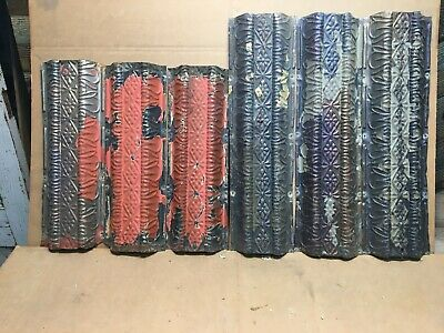 "6pc Lot of 24/18"" x 6.5"" Antique Ceiling Tin Vintage Reclaimed Salvage Art Craft"