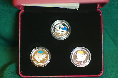 2011 Canada Conservation Success Set of 3 Coloured 25 cent proof finish coins