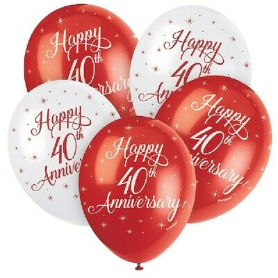 """12/""""  GSB Assorted Latex Balloons pack of 5 Elegant number 65"""