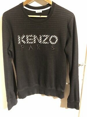 581b92b851e KENZO LOGO BLACK tonal stripe sweatshirt jumper - Medium (large ...