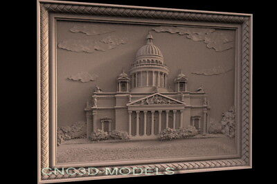 3D Model STL for CNC Router Carving Artcam Aspire President House Pano f509