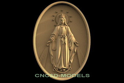 3D Model STL for CNC Router Carving Artcam Aspire Madonna Virgin Mary f639
