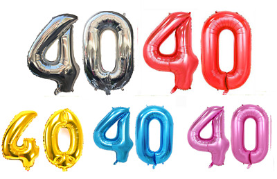 "40th Helium Foil Birthday/Anniversary Balloon 32"" or 40"""