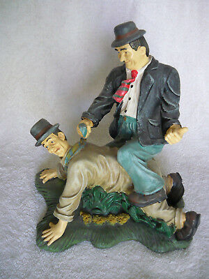 Laurel and Hardy 70's statue- Resin