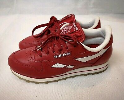 7e7d3ad5a506 Retro Reebok Classic Red Leather Trainers Size 6 Vintage 80s 90s Blogger  Trend