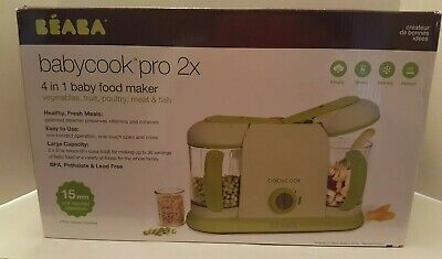 Beaba Babycook Pro 2X. 4-in1 Baby Food Maker and Steamer New