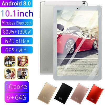Android 8.0 10.1 Inch Tablet PC 64GB MTK6796 10-core HD Screen WiFi Bluetooth