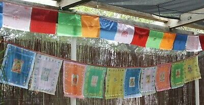 Large Traditional Tibetan Buddhist Luck Fortune Prayer Flags Banner Wind Horse