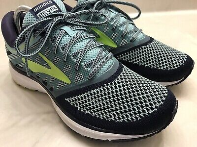 36255b1df36 Brooks Revel DNA Midsole Island Blue Knit Road Running Athletic Shoes Womens  10