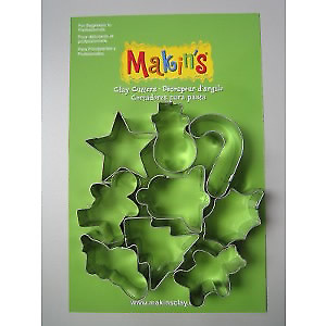 Makins Clay & Cookie Cutters - CHRISTMAS CUTTER SET (Set of 9)