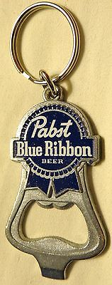Pabst Blue Ribbon Beer - Key Chain - Bottle Opener - PBR Logo - NEW - Very Cool