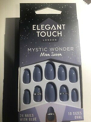 Elegant Touch False Nails Mystic Wonder Collection Moon Swoon 12 Sizes Oval