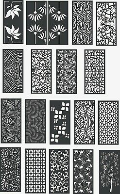 DXF FILE FOR CNC Router Plasma - Ready to Cut - DXF CDR Files -Pattern Door