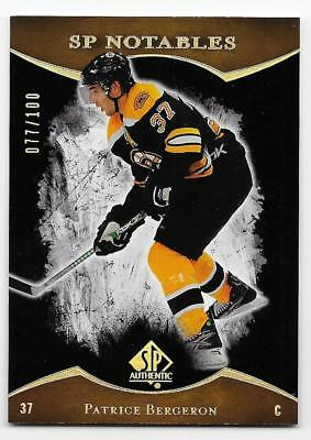 07/08 SP AUTHENTIC LIMITED PARALLEL Hockey /100 (#1-190) U-Pick from List