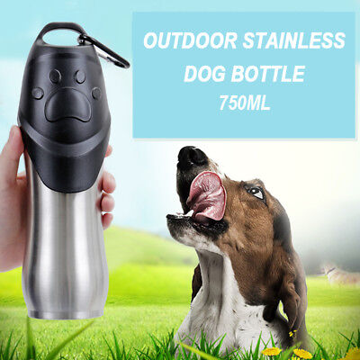 Pet Dog Drinking Water Bottle Bowl Puppy Outdoor Travel Stainless Steel Cup