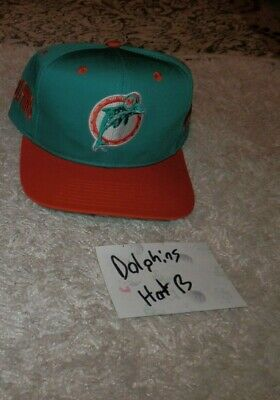 f8494532 MIAMI DOLPHINS HATS caps NFL Snapback NEW VTG 90's with tags ...