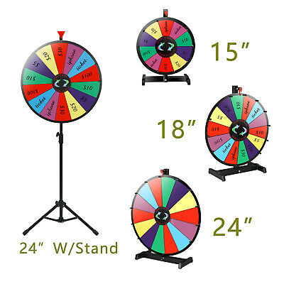Multi Size Prize Wheel Editable Stand Fortune Spinning Game Tabletop Dry Erase