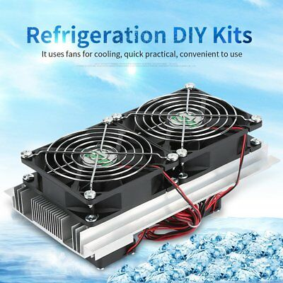 Thermoelectric Peltier Refrigeration Cooling System Cooler Double Fan DIY