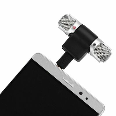 Portable Mini Mic 3.5mm Digital Stereo Microphone For PC Mobile Phone Recorder