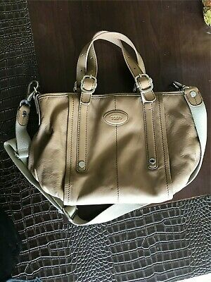 7b8dd4025c AUTH. TOD'S G-LINE Sacca Tan Soft Leather Tote Bag - $298.00 | PicClick