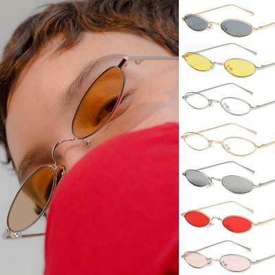 b6879d20da Men Women Small Oval Sunglasses Fashion Metal Frame Clear Red Lens Shades  Unisex