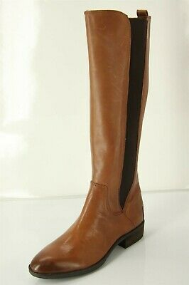 b160c6833 Sam Edelman Paradox Tall Riding Boots size 6.5 Whiskey Brown Leather  stretch NEW