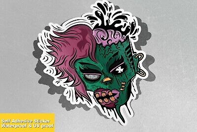 Colourful Zombie Horror Scary Spook Vinyl Sticker Decal Window Car Van Bike 2009