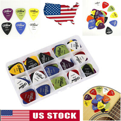 50/100PC Electric Guitar Folk Pic Acoustic Music Pick Plectrum Assort Thickness