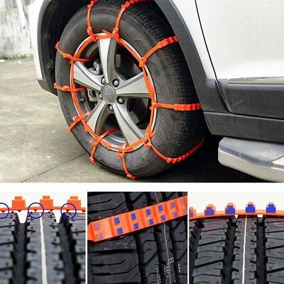 10 PCS Snow Tire Chain for Car Truck SUV Anti-Skid Emergency Winter Driving Hot
