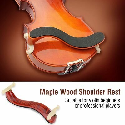 Adjustable Wood Shoulder Rest Pad Support For 3/4 4/4 Violin Height Angle New