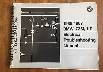 1986-1987 bmw 735i & l7 electrical troubleshooting manual wiring diagrams  repair
