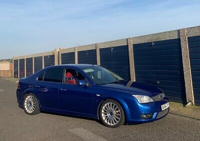 Ford mondeo ST tdci performance blue with red Recaro leather interior