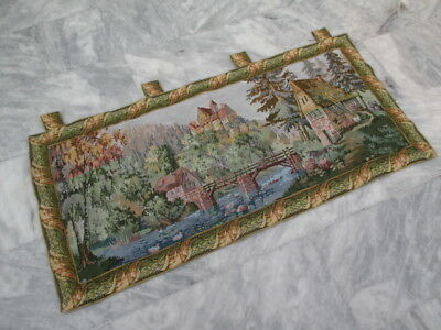 4923 - Old French / Belgium Tapestry Wall Hanging - 122 x 59 cm