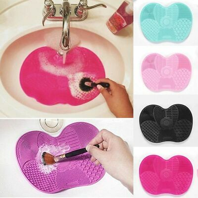 New Silicone Makeup Brush Cleaner Cleaning Cosmetic Scrubber Board Mat Pad Hand